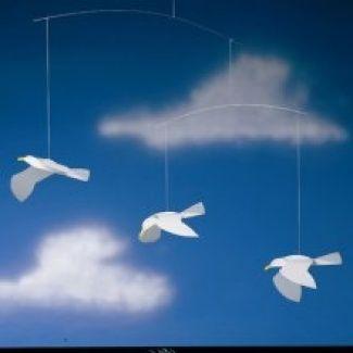 Flensted mobile - soaring seagulls