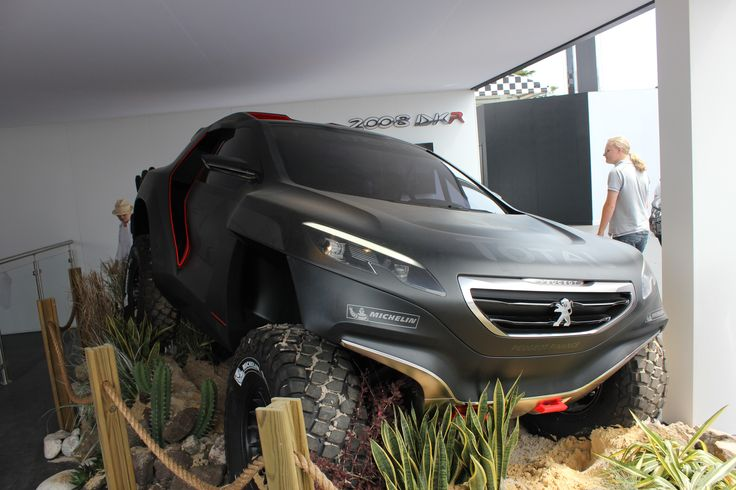 The #Peugeot 2008 DKR - exclusive first viewing at Goodwood Festival of Speed 2014