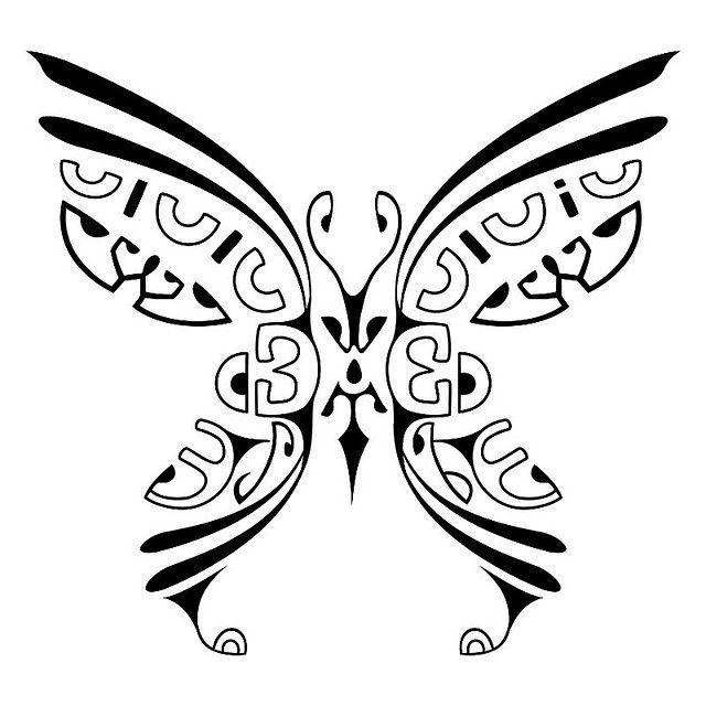 Butterfly - Maori, Tatuagem Polinésia