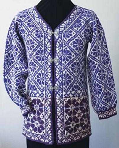 Knitting With Two Colors Meg Swansen : Ravelry norwegian rose jacket pattern by meg swansen