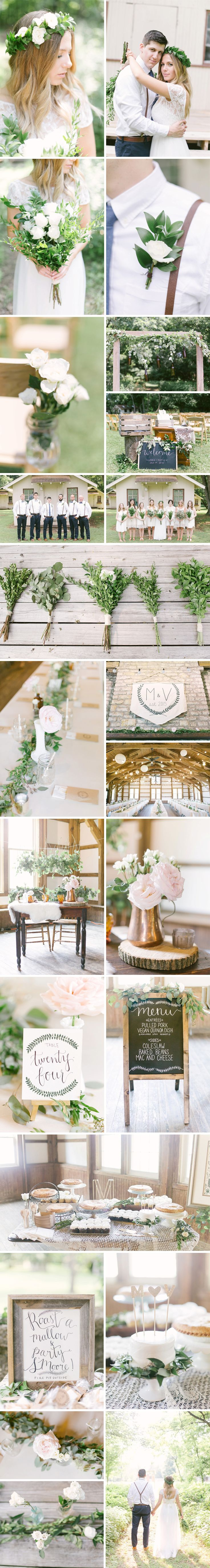 Boho Woodland DIY Wedding with wholesale flowers from FiftyFlowers.com. - Event Planning & Styling: Events Held Dear | Photography: Leigh Elizabeth Photography