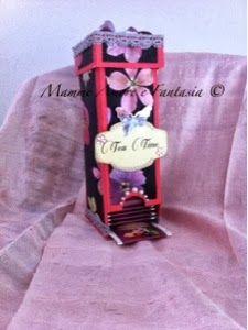 Tea box from spaghetti box #2 http://mammeamoreefantasia.blogspot.it/2013/10/tea-box-con-la-scatola-degli-spaghetti.html?m=1