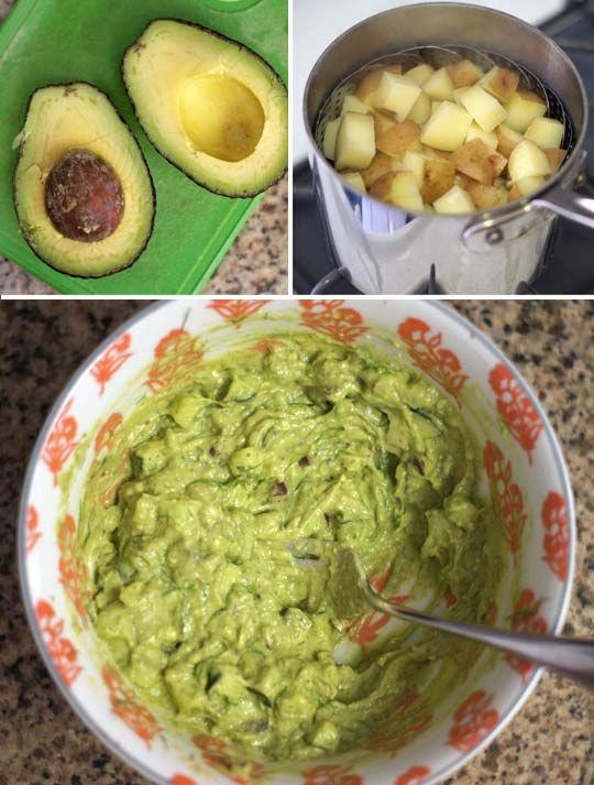 AVOCADO POTATO SALAD - 2lb potatoes, 1 avocado, 2T dijon, 2T red onion, 2T dill, 1/2c cucumber, 1t lemon juice, 1/4t salt, pepper. - Detoxinista