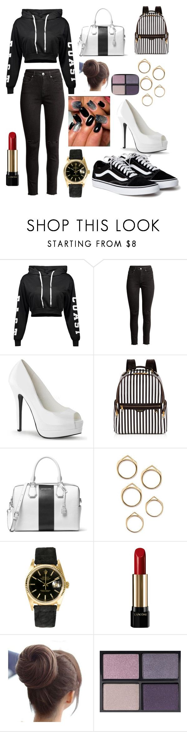 """Teen or young adult ur choice"" by kiaralisvasquez ❤ liked on Polyvore featuring H&M, Henri Bendel, MICHAEL Michael Kors, Rolex, Lancôme and Tom Ford"