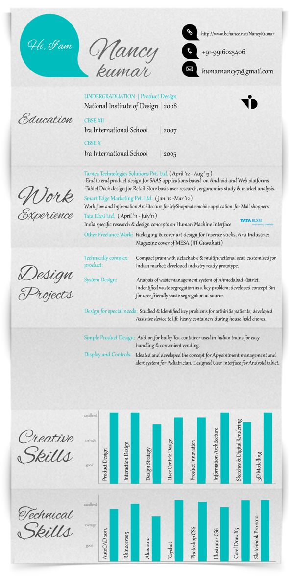 Love Feminine Feel And Hand Drawn Feel Of The Section Headings. Resume  Design, Resume. Creative ...