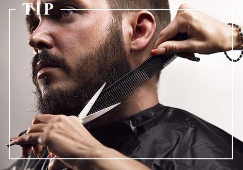 TIP: Recortar la barba mediante una maquina o una cuchilla, habrá que perfilarla y, dependiendo del tipo de barba, disminuir el grosor para volver al deseado. Es importante estar atento a este paso, ya que la barba se deforma mucho cuando crece. Hay que darle la misma importancia que al corte de pelo o incluso más: una barba bien cuidada dice mucho de ti.