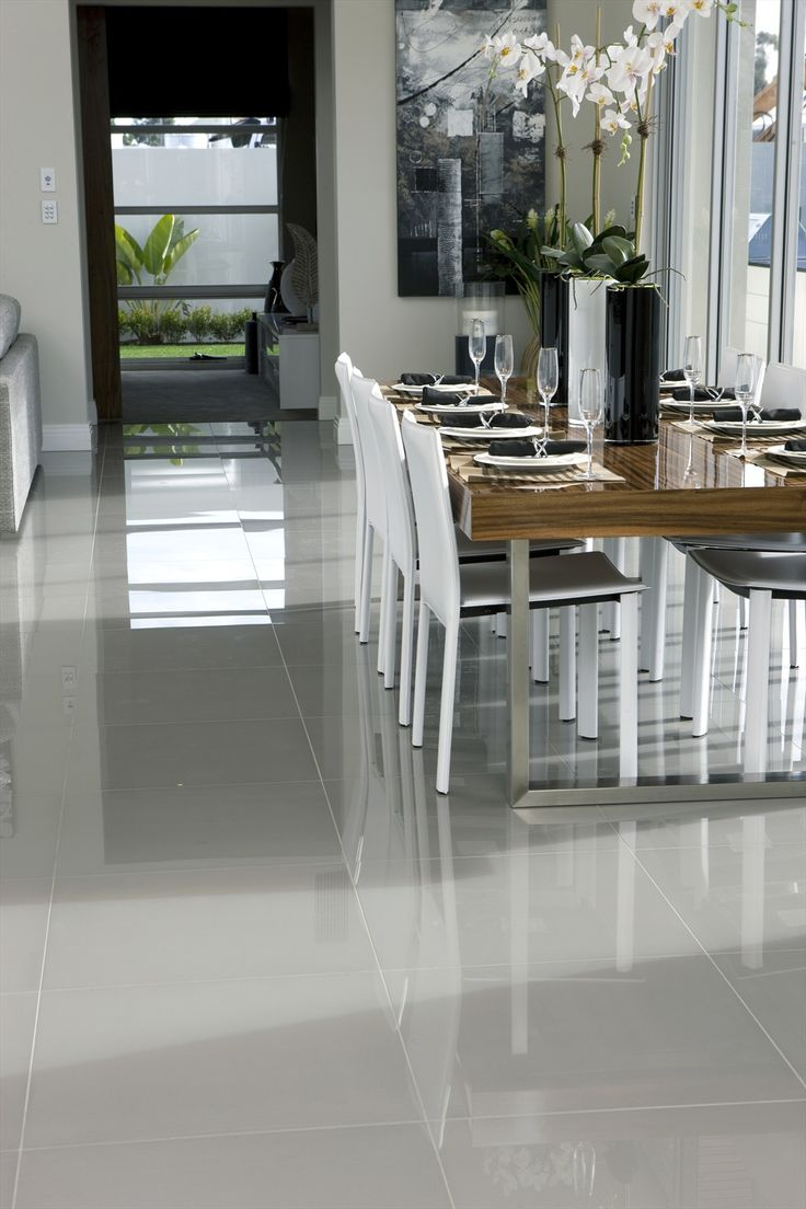im not really a fan of tile however this looks really nice - Large White Kitchen Floor Tiles