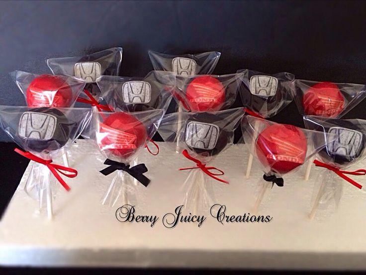 HONDA theme cake pops! #berryjuicycreations