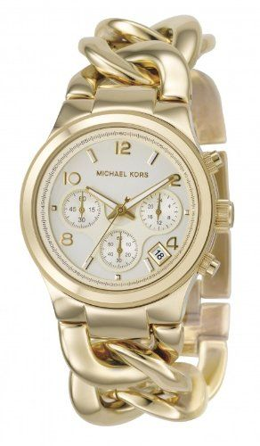 Michael Kors watch.: Style, Women Watches, Michaelkor, Michael Kors Watches, Gold Watches, Jewelry, Bracelets Watches, Chains Link, Stainless Steel