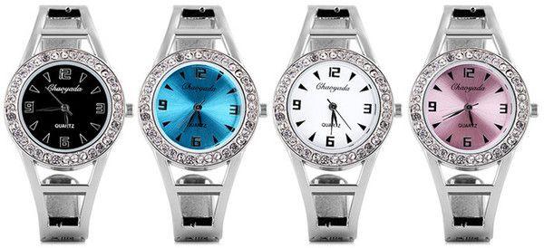 Water Resistant Luxury Quartz Bracelet Watch with Diamonds Analog Indicate Steel Watchband for Women