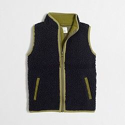 Factory boys' sherpa vest: