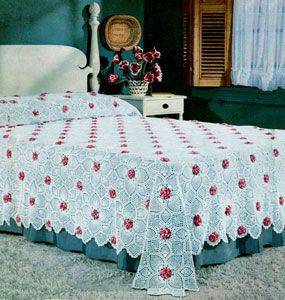 Rose and Pineapple Bedspread Pattern ~ free pattern