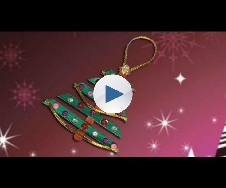 Nice christmas tree, crafts ideas for christmas decoration
