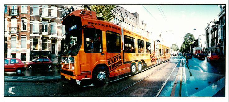Golden oldies - Kleyn Trucks Tram - Guerilla advertisement in Amsterdam 2002