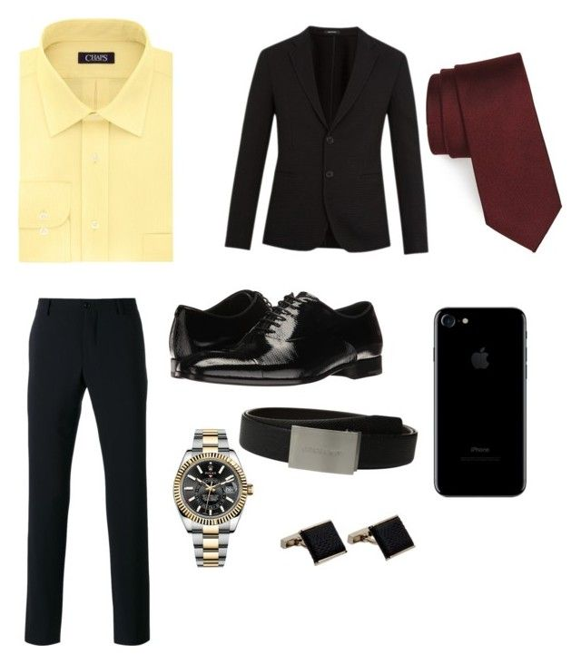 """Nate Archibald Jr"" by kylie-2002 ❤ liked on Polyvore featuring Nordstrom, Giorgio Armani, Chaps, Rolex, Louis Vuitton, men's fashion and menswear"