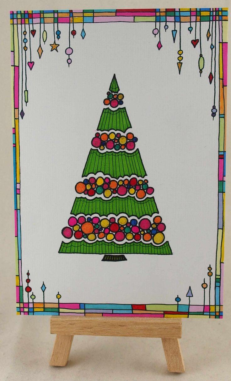Doodling christmas card doodling christmas tree and dangles :)