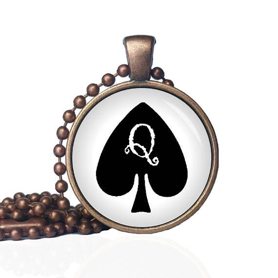 Queen of Spades Necklace - Queen of Spades - Card Necklace - Spades Pendant - Hot Wife - BBC - 818 - Cuckold - QOS - BDSM - Swinger by KingFamilyCreations