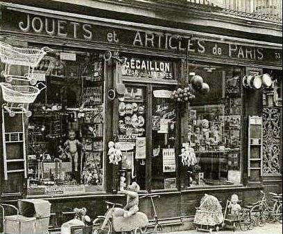 """Paris shop - many dolls found their """"mothers"""" there once upon a time"""