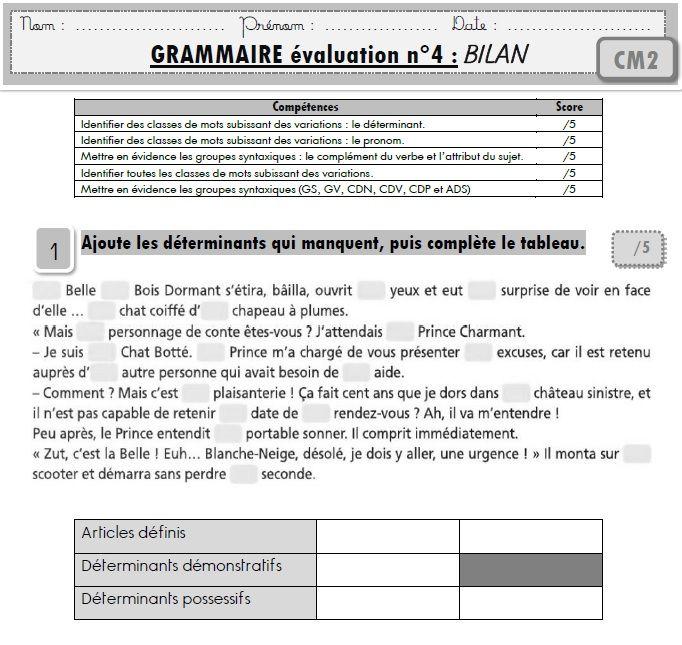 Ouf, voilà la dernière fournée d'évaluations de français ! Elles sont pour le CM2 cette fois-ci avec les compétences des nouveaux programmes. La programmation est ici : clic, les évaluations de CE2...