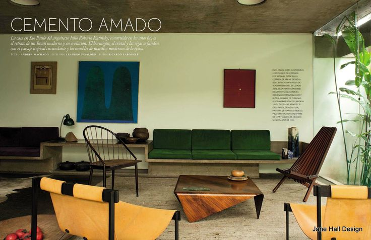 Contemporary Style living room featured in AD Spain
