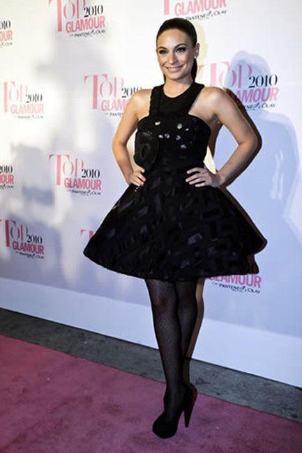 """Ana Brenda Contreras in Alexia Ulibarri dress ("""" Sueño de un Cuadrado"""" Collection). Amazing!"""