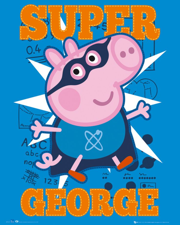 Peppa Pig - Super George - Official Mini Poster. Official Merchandise. FREE SHIPPING