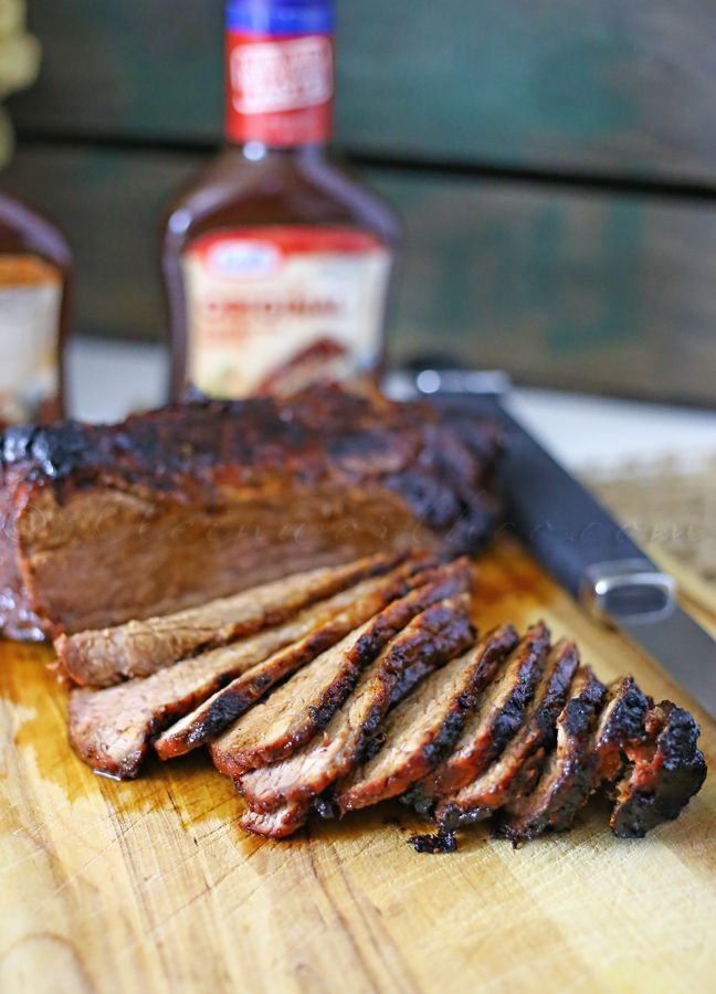 Barbecue Tri Tip Roast (easy garlic, salt, pepper, Worcestershire sauce, bottled BBQ sauce) | 40-ish minutes on the grill