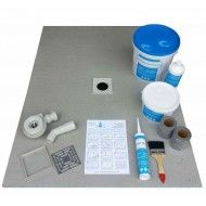 Wet room Shower Tray Kit 1200 x 900