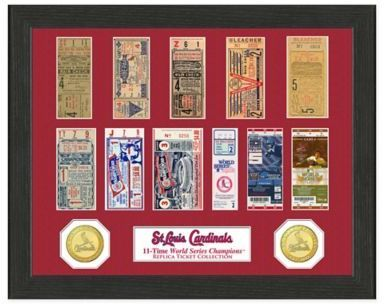 MLB St. Louis Cardinals World Series Bronze Coin & Ticket Collection Photo Mint