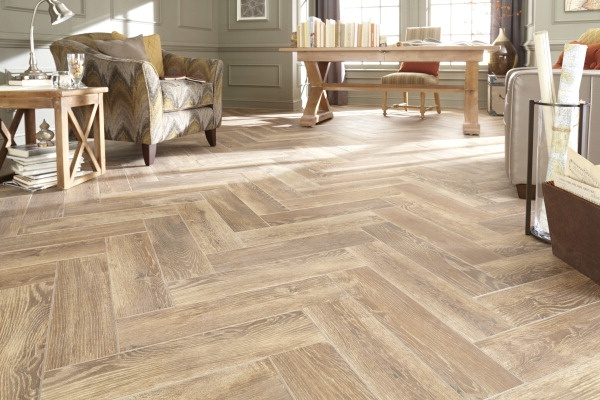 Natural Timber Cinnamon Glazed Porcelain Floor Tile