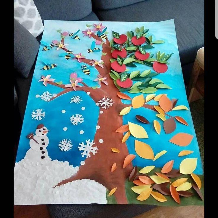 """978 Beğenme, 6 Yorum - Instagram'da Özge ERYALÇIN (@etkinlikkurdu): """"Mevsimler #etkinlikkurdu #etkinlikhane #preschoolteacher #preschool #kindergarten #ilkgün #okul…"""""""