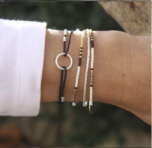 mariage de perles miyuki et d'un bracelet anneau rond en argent 925 sur http://www.unbijouforyou.com/