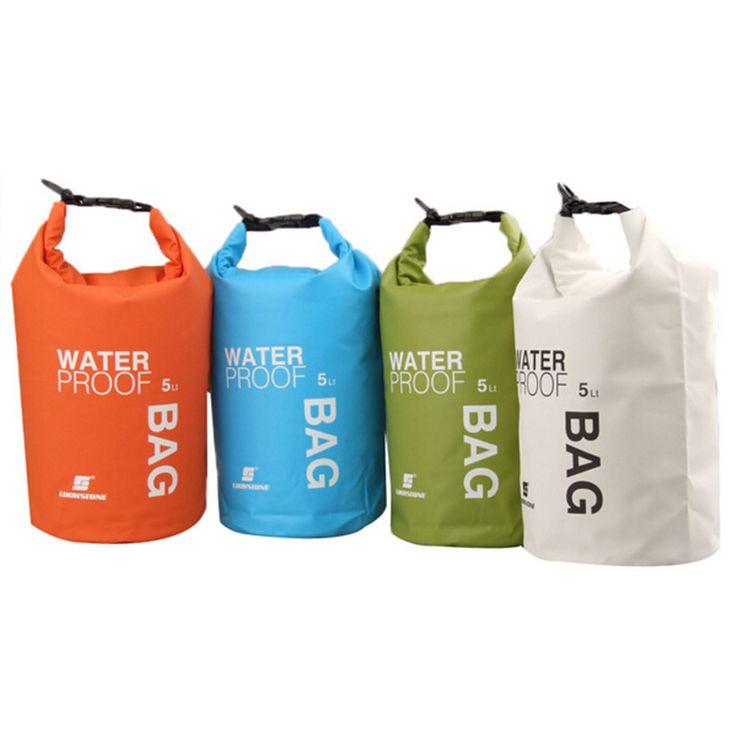 4Colors 5L Ultralight Portable Outdoor Tools Rafting Waterproof Dry Bag Swim Storage Blue/White/Orange/Green Camping Equipment