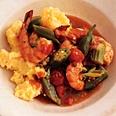 New Orleans Shrimp, Okra, and Tomato Sauté.