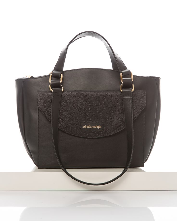 Night-Down Tote bag with Black Dotted Clutch dorka petrity