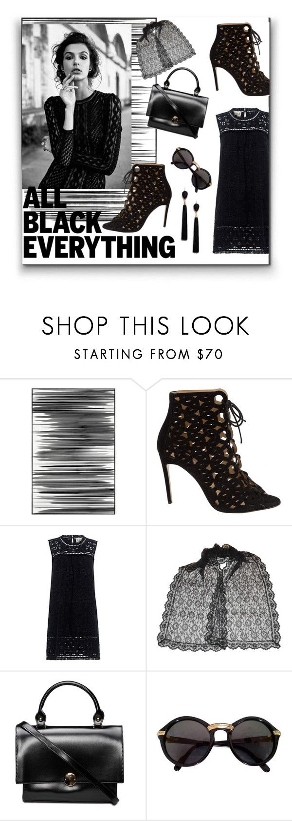"""All Black Everything"" by kittenkute ❤ liked on Polyvore featuring Art Addiction, Bionda Castana, Sea, New York, Cartier, Mignonne Gavigan, monochrome, contest, black, blackandwhite and allblack"