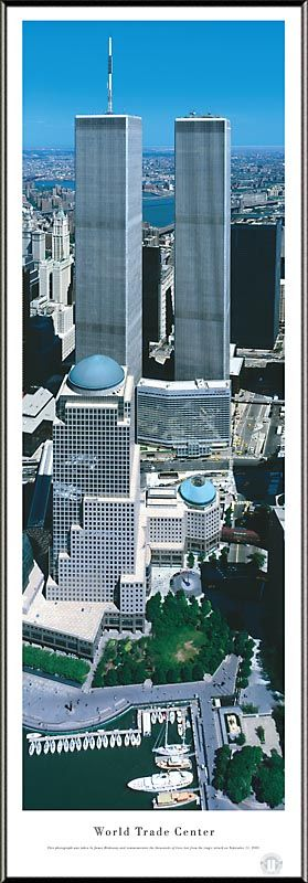 World Trade Center Picture - Panoramic Picture $99.95