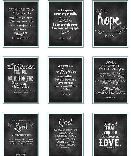 free chalkboard verses printables