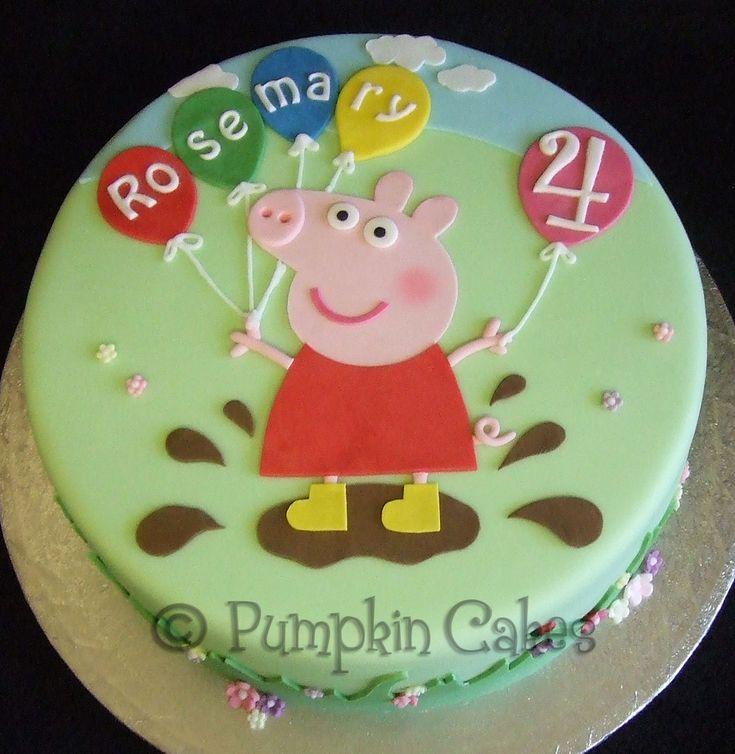 Peppa Gris bursdagskake