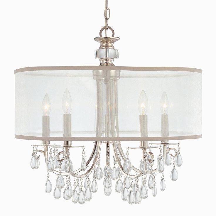 Modern Glam Shaded Crystal Chandelier - 5 Light