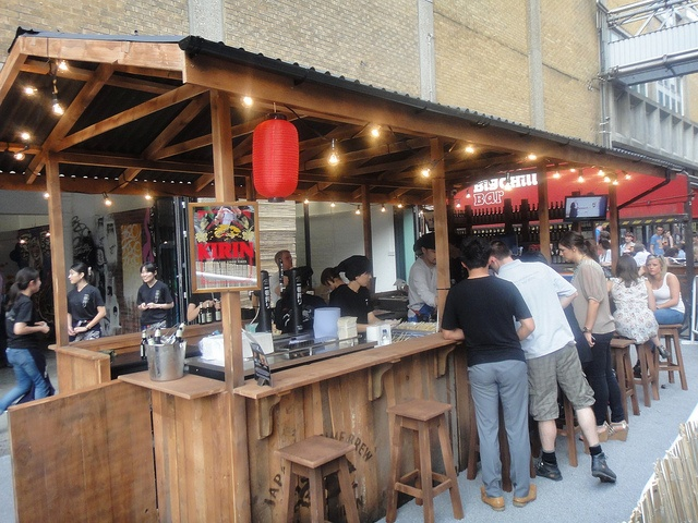 kirin ichiban yatai pop up restaurant london - Blue Restaurant Ideas