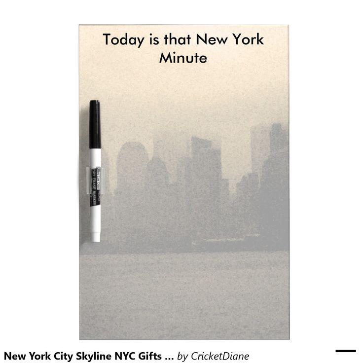 New York City Skyline NYC Gifts Dry Erase Boards