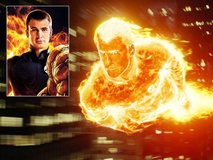 "chris evans as the human torch | PHOTO: Chris Evans as The Human Torch in ""The Fantastic Four."""