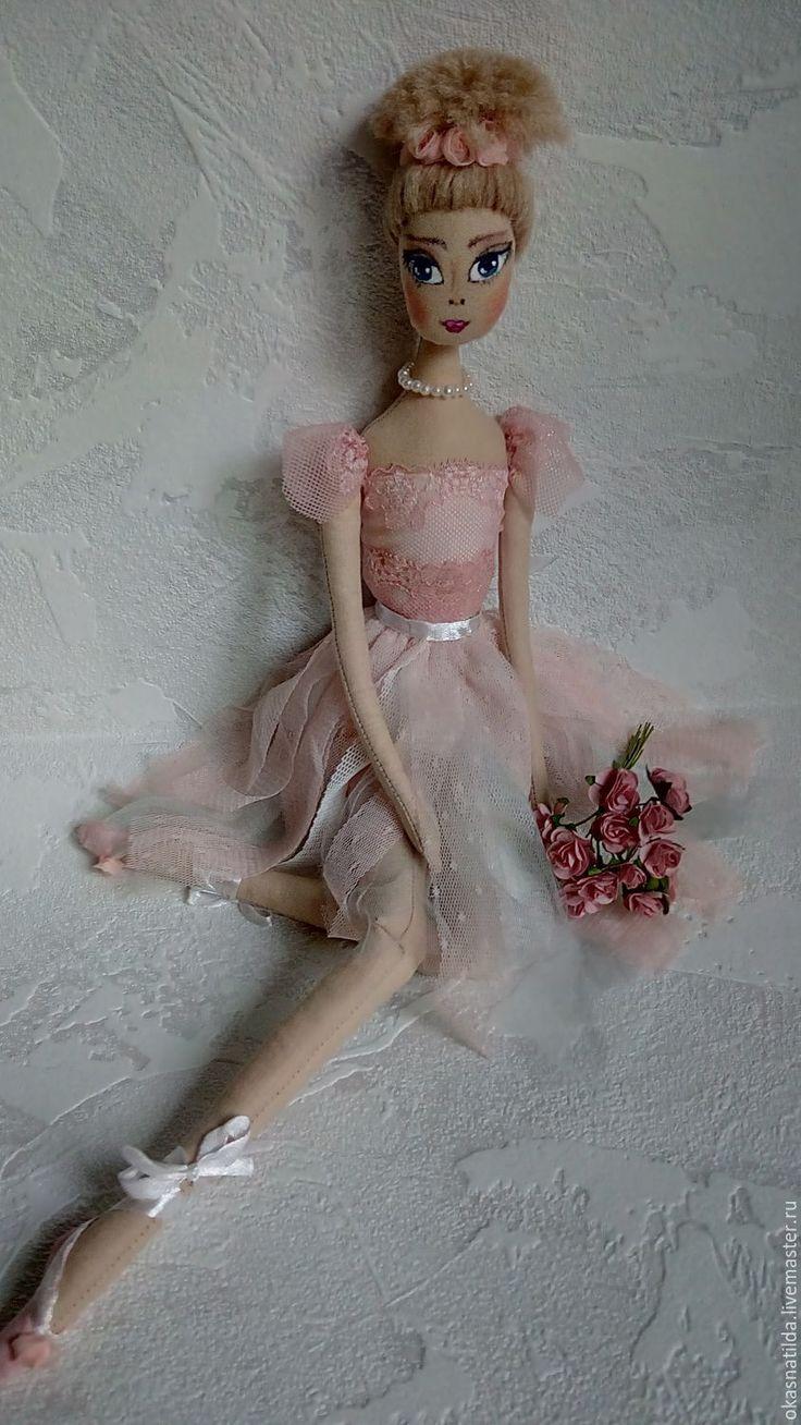 Купить текстильная кукла Балерина - бледно-розовый, дымчато розовый, кукла для балерины, балет, танец