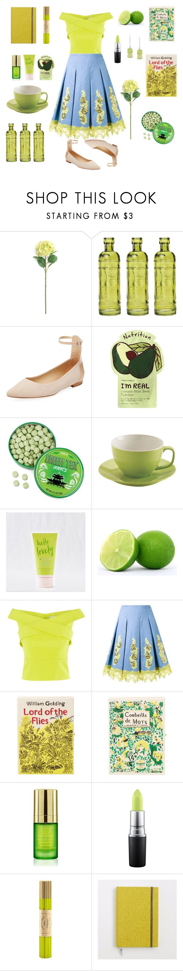 """Key Lime Pie"" by willinat ❤ liked on Polyvore featuring Cultural Intrigue, Schutz, Charlotte Russe, Price & Kensington, Aerie, Coast, DressCamp, Olympia Le-Tan, Tata Harper and MAC Cosmetics"
