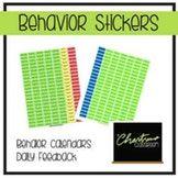 Behavior Calendar Stickers