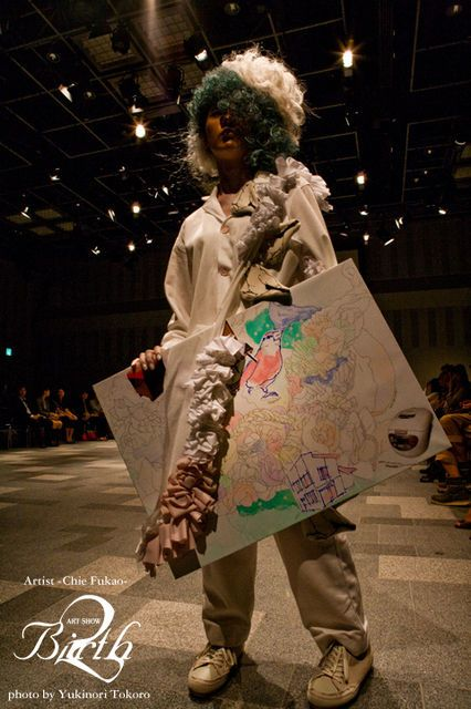 Artist Chie Fukao / Photographer Yukinori Tokoro / Hairmake Fumi Nakata / Model Nozomi Nishi