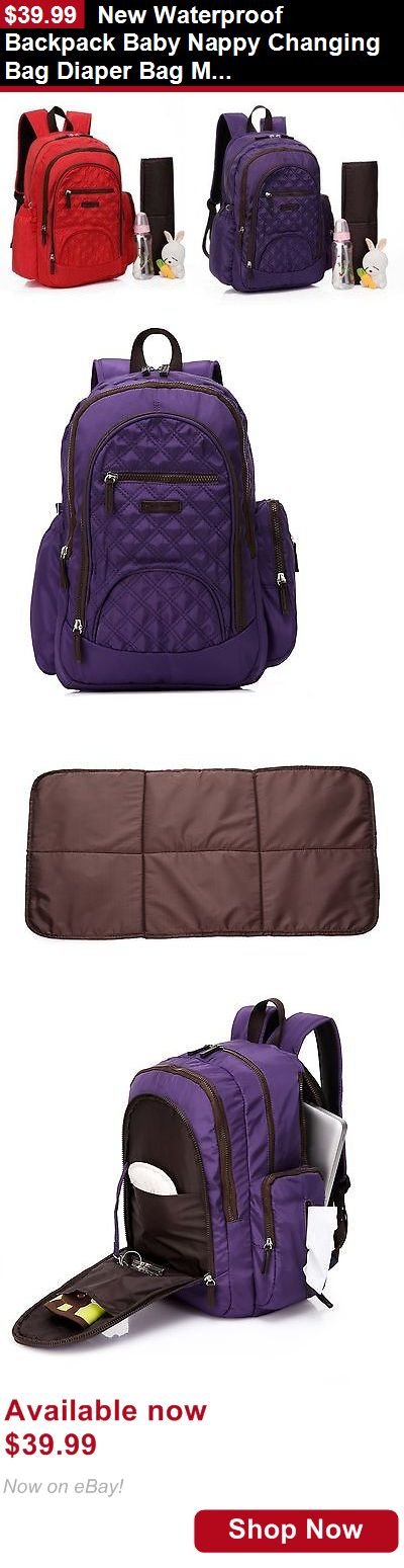Baby Diaper Bags: New Waterproof Backpack Baby Nappy Changing Bag Diaper Bag Mummy Bag--Bp170 BUY IT NOW ONLY: $39.99
