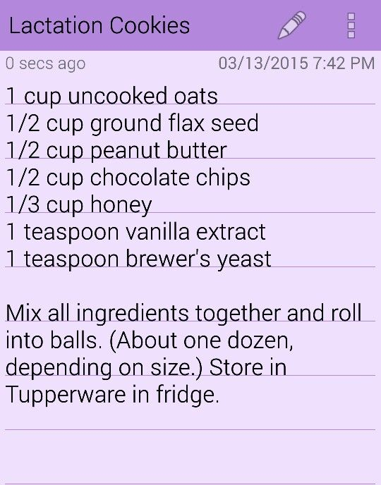 My favorite lactation cookies! Super easy and super yummy! I've also added a handful of crushed walnuts for even more texture.