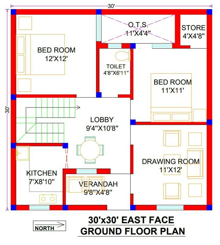30x30 House Plan 30x30 East Facing House Plans 30x30 House Plan 2bhk 900 Sq Ft House Design 20x30 House Plans 30x40 House Plans 20x40 House Plans